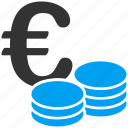 business, coins, euro, european, expensive, money, payment icon