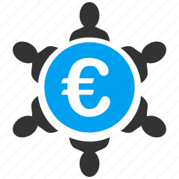 business, collaborate, collaboration, company, euro, european, teamwork icon
