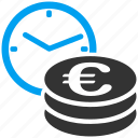 business, credit, euro, european, reccurent payments, time, timer icon