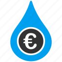 business, cashflow, drop, euro, european, money, water icon