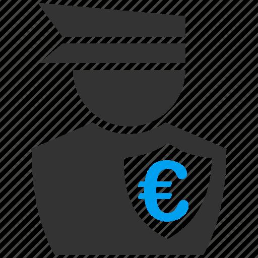 business, commissioner, corruption, euro, european, guard, police icon