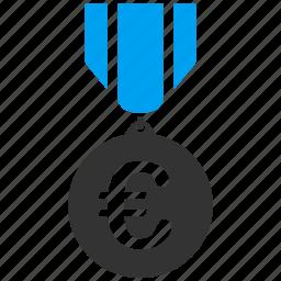 award, business, euro, european, honor, medal, reward icon