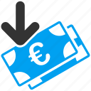 business, euro, european, gain, income, profit, salary icon