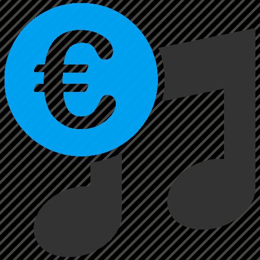 audio, business, euro, european, melody, music, shopping icon