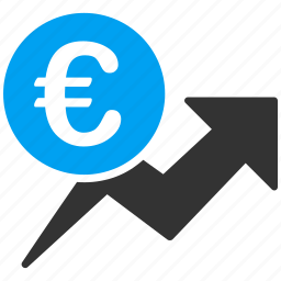 business, chart, euro, european, graph, growth, sales icon