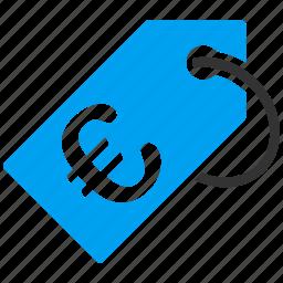 business, euro, european, price, shopping, tag, ticket icon