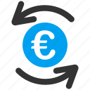 balance, business, euro, european, refresh, sync, update icon