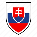 country, europe, flag, identity, nation, slovakia, world icon