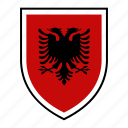 albania, country, europe, flag, identity, nation, world icon