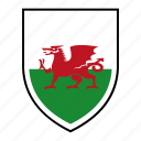 country, europe, flag, identity, nation, wales, world icon