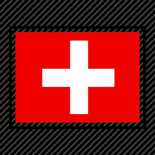 country, europe, flag, identity, nation, switzerland, world icon