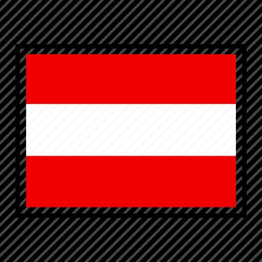 austria, country, europe, flag, identity, nation, world icon