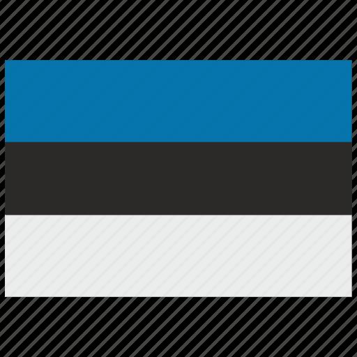 esthonia, europe, flag icon