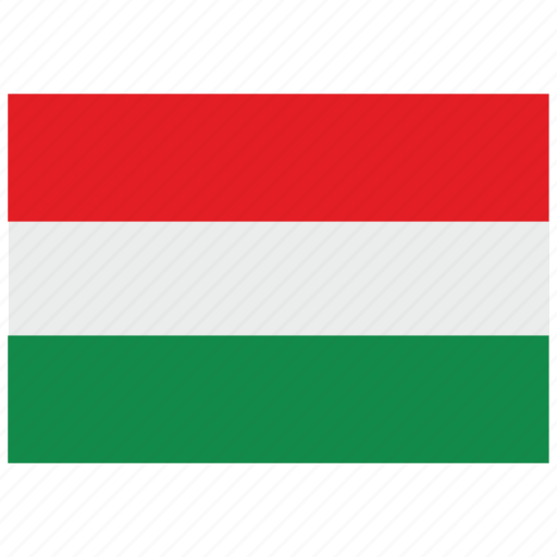 europe, flag, hungary icon