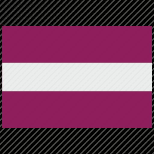 europe, flag, latvia icon