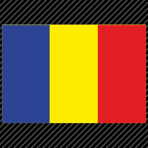 europe, flag, romania icon