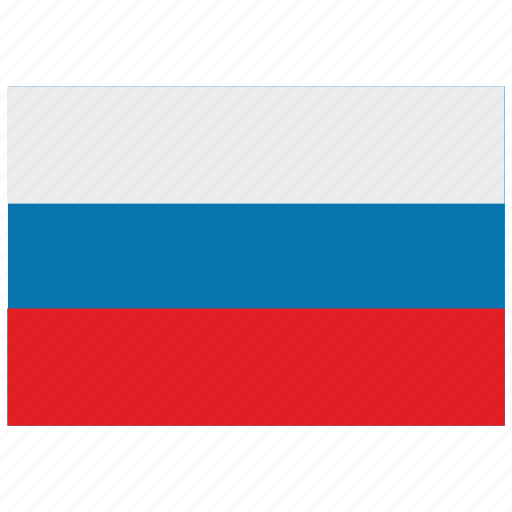 europe, flag, russia icon