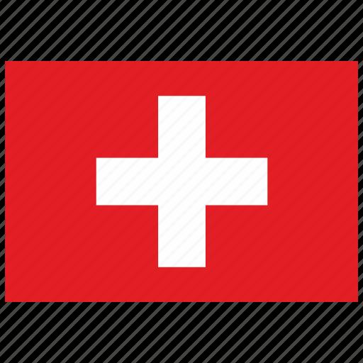 europe, flag, swiss icon