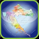 croatia, croatia political regions, europe, map, maps icon