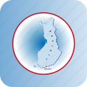 capitals, country, europe, finland, map, maps icon