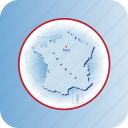 capitals, country, europe, france, map, maps icon