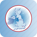 capitals, country, europe, great britain, map, maps icon