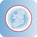 capital, country, europa, europe, ireland, map, maps icon