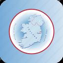 capital, country, europa, europe, ireland, map, maps icon