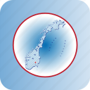 capital, country, europa, europe, map, maps, norway icon