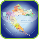 country, croatia, europa, europe, map, maps, regions icon