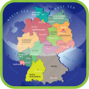 country, europa, europe, germany, germany political regions, map, maps icon