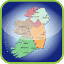 country, europa, europe, ireland, map, maps, regions icon