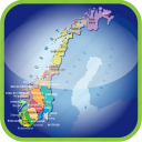 country, europa, europe, map, maps, norway, norway political regions icon