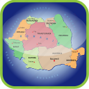 country, europa, europe, map, maps, regions, romania icon
