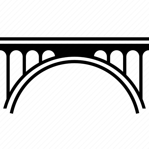 Adolphe bridge, arch bridge, connecting, landmark, luxembourg icon - Download on Iconfinder