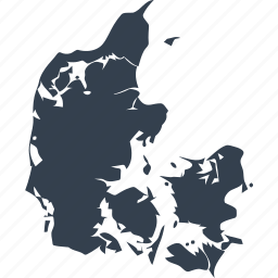 denmark, europe, location, map, state, world icon