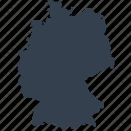 europe, germany, map, world icon