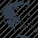europe, greece, map, world
