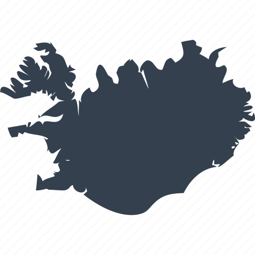 europe, iceland, map, world icon