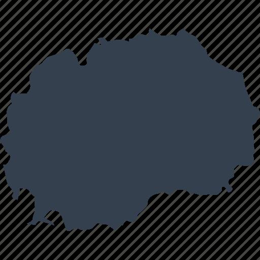 europe, macedonia, map, world icon