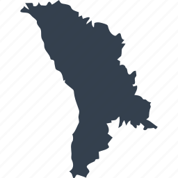 europe, map, moldova, world icon
