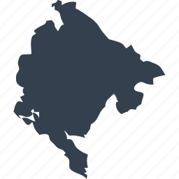 europe, map, montenegro, world icon