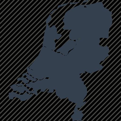 europe, map, netherlands, world icon