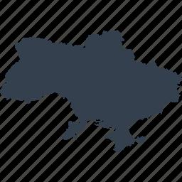 europe, map, ukraine, world icon
