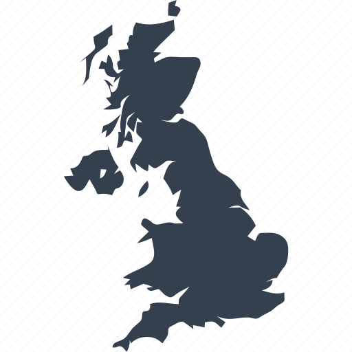 britain, england, europe, great, kingdom, map, united icon