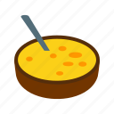 catalana, cream, crema, dessert, food, sugar, yellow icon