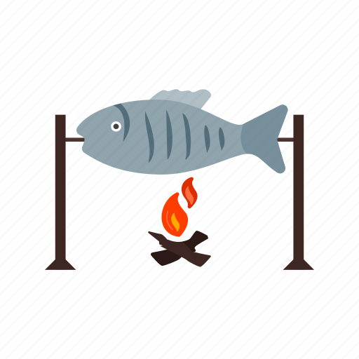barbecue, cooking, fish, food, grilled, meal, seafood icon