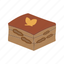 cake, cuisine, dessert, food, italian, tiramisu, traditional icon