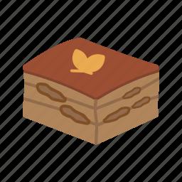 cake, cuisine, dessert, food, italian, tiramisu, traditional icon