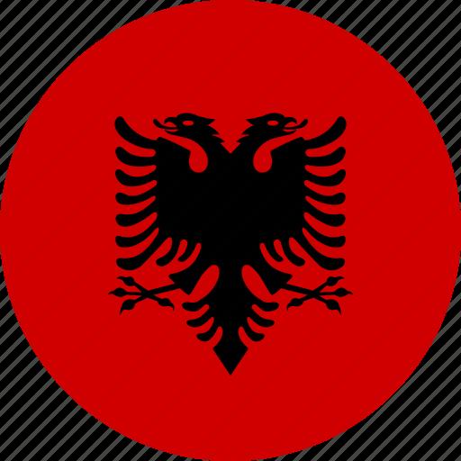 albania, country, flag icon